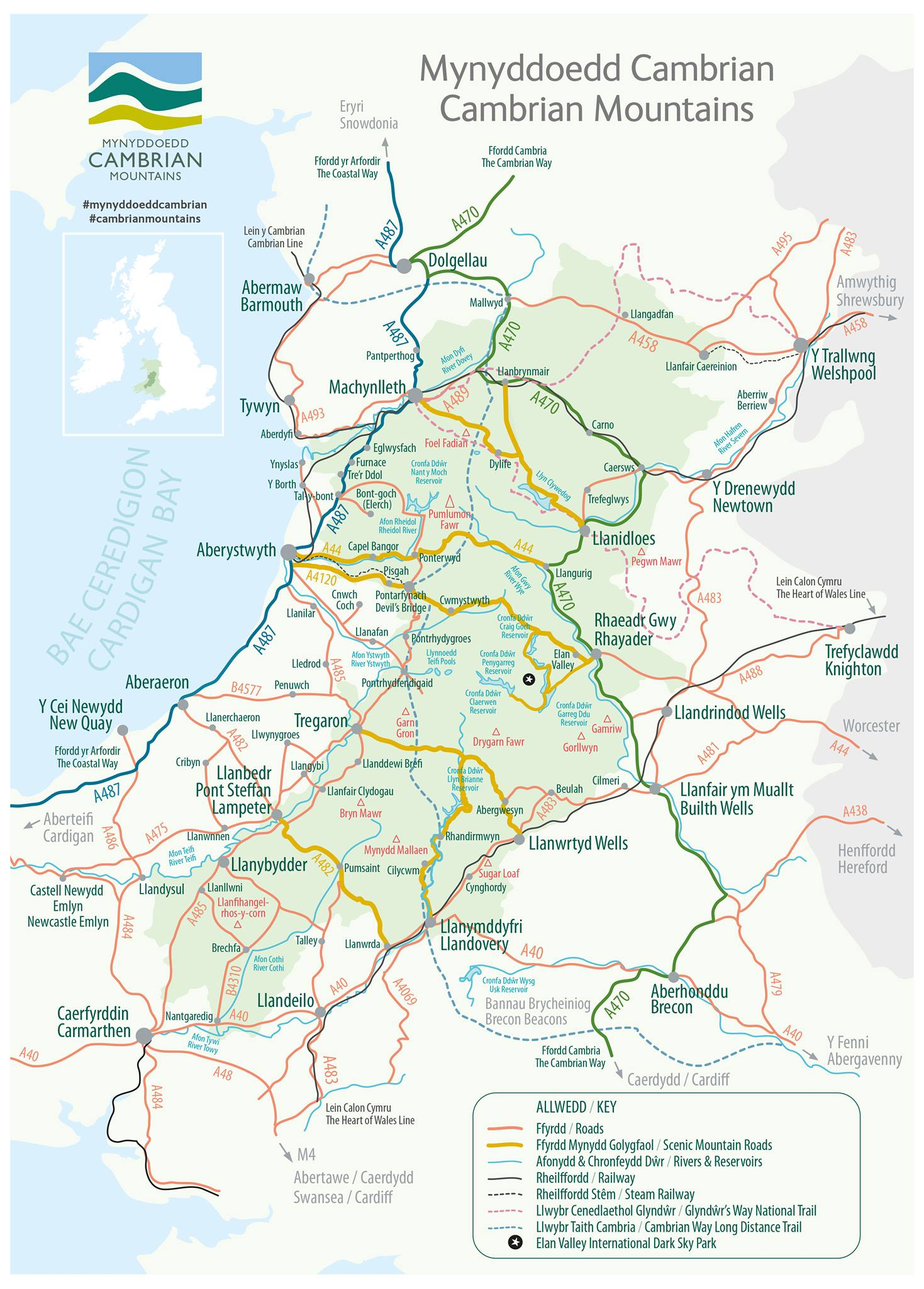 Discover Cambrian Mountains Map