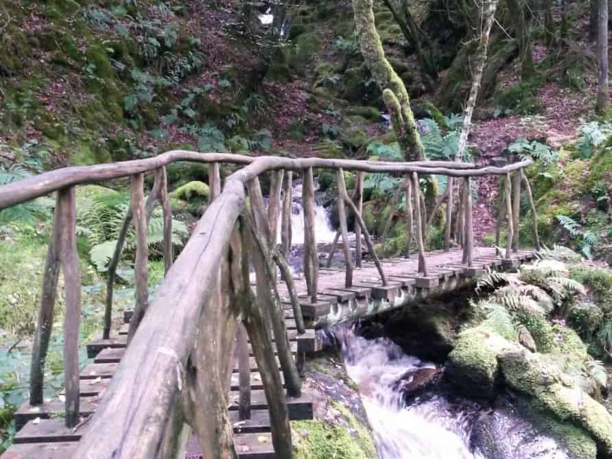 A rustic bridge over the Ystwyth in the Hafod Estate.
