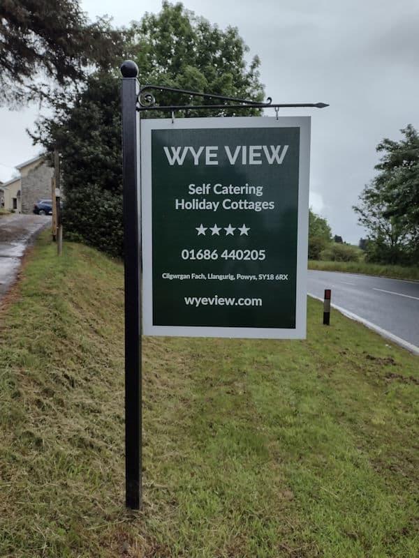 Wye View roadside sign